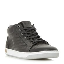 Dune Showtime perforated panel hi top trainer