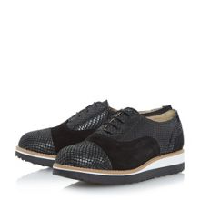 Dune Furely wide fit flatform laceup shoes