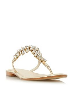 Nara jewelled toepost flat sandals