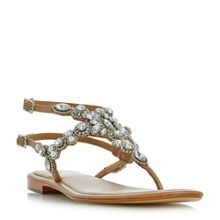 Dune Nuevo double strap embellished sandals