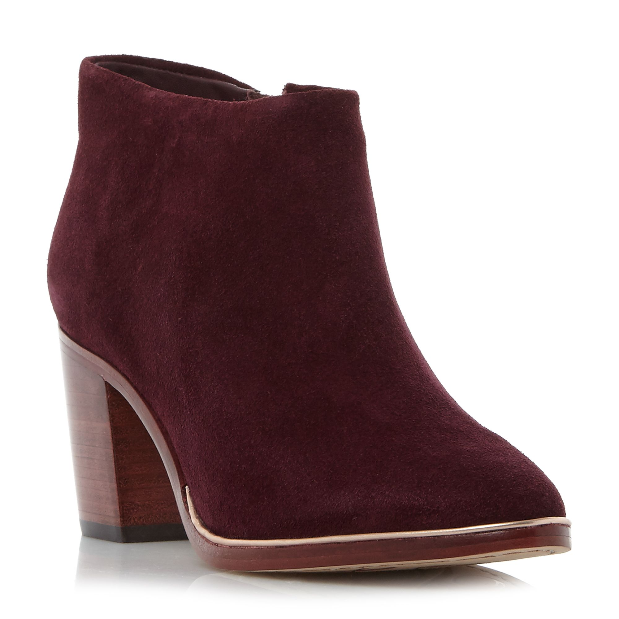 Ted Baker Hiharu 2 suede ankle boots Burgundy
