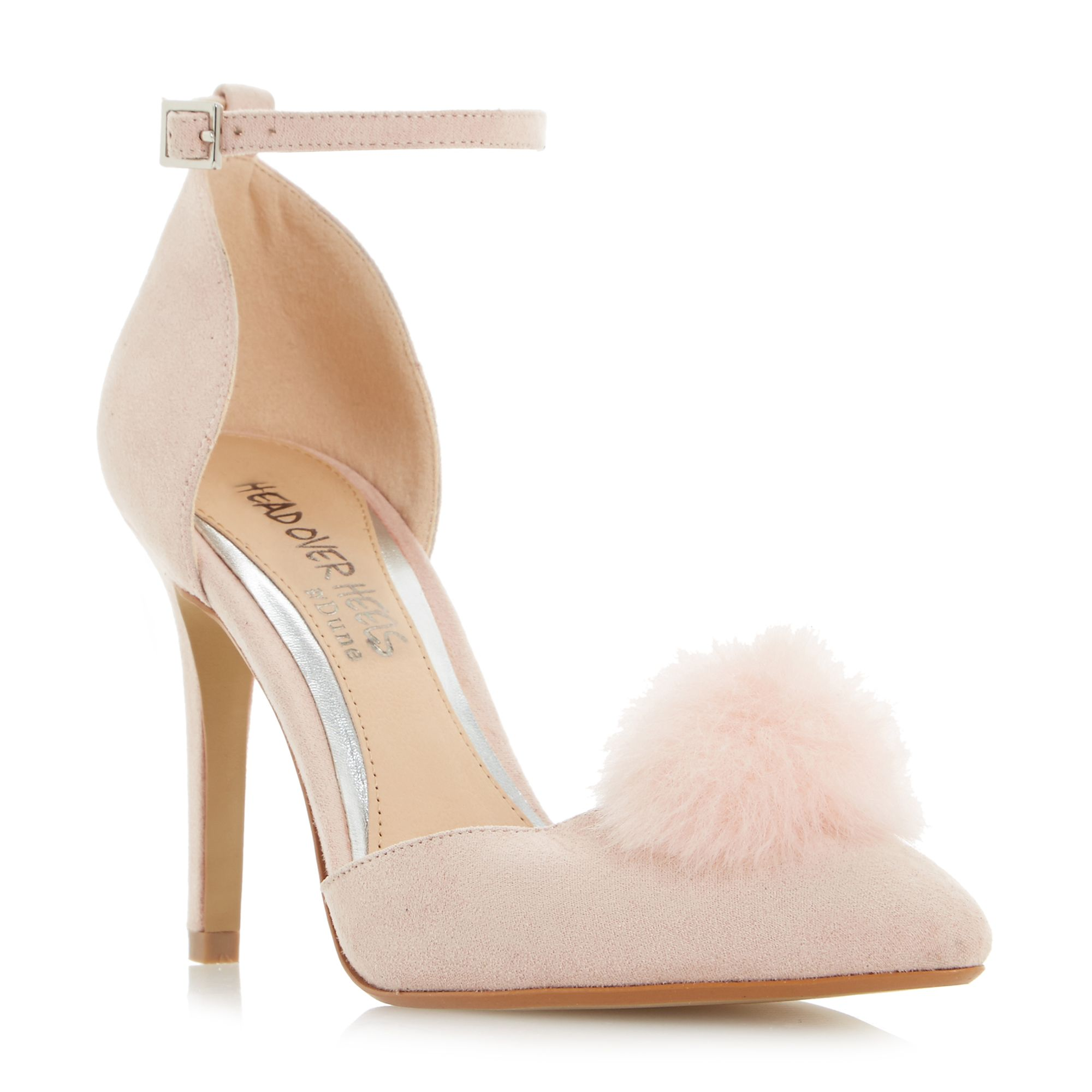 Head Over Heels Cresseda Two Part Pom Pom Court Shoes Blush