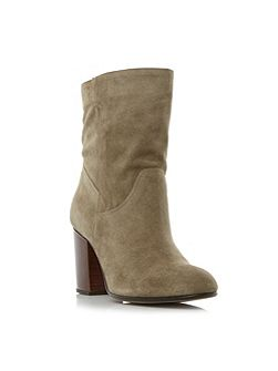 Remmi Slouchy Block Heeled Ankle Boot