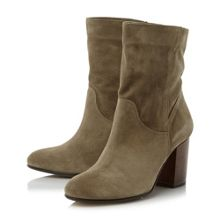 Dune Remmi Slouchy Block Heeled Ankle Boot