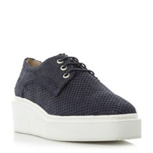 Dune Black Flawless square toe lace up trainers