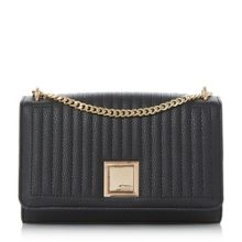 Dune Edwyn quilted square clutch bag