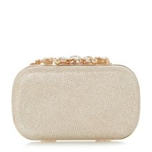 Dune Emberr embellished clasp evening bag