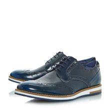 Bertie Baker hill wedge sole brogue shoes