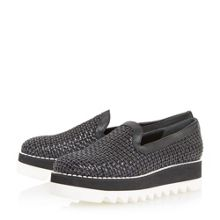 Dune Black Gloat casual unlined loafers