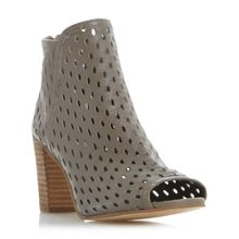 Dune Iola perforated foot cover sandals