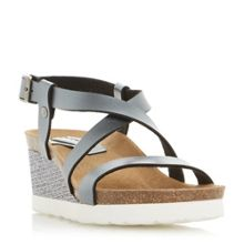 Dune Katya footbed wedge sandals