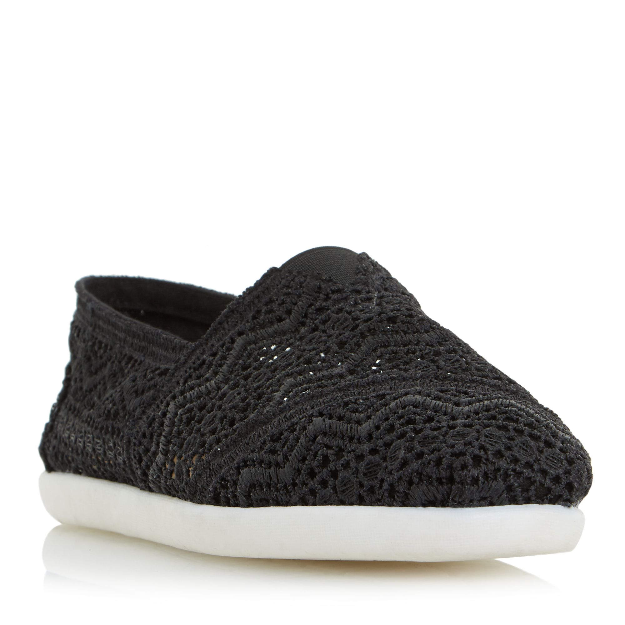 Head Over Heels Eliah Two Part Crochet Slip On Shoes Black