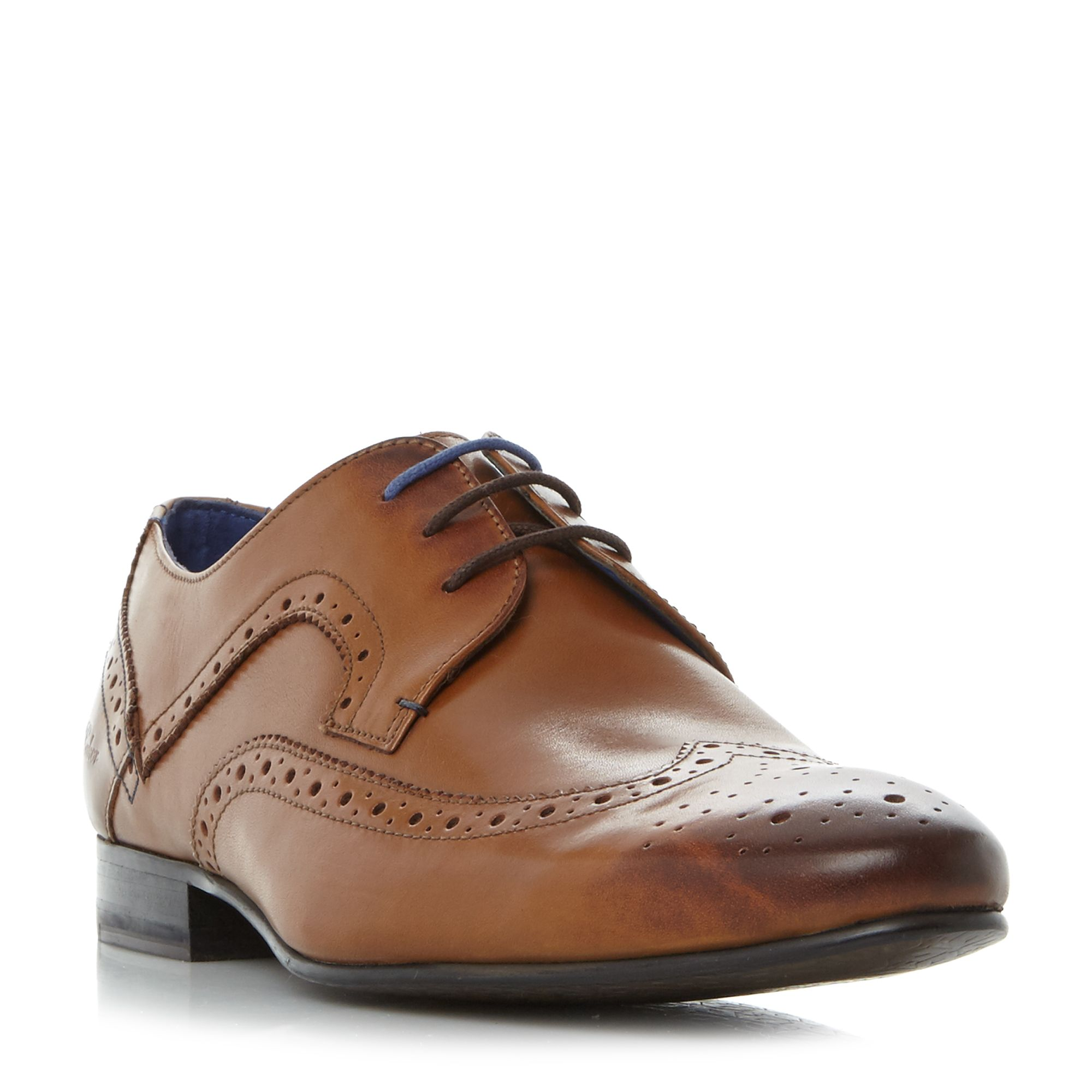 Ted Baker Oakke Wingtip Brogue Lace Up Shoes Tan