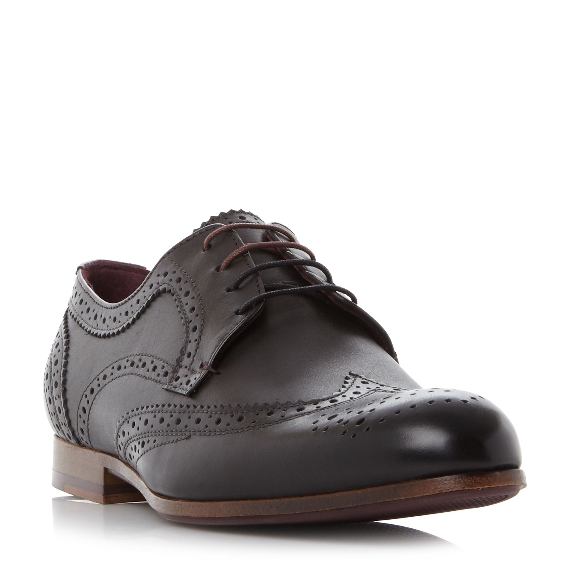 Ted Baker Granet Wingtip Brogue Shoes Black