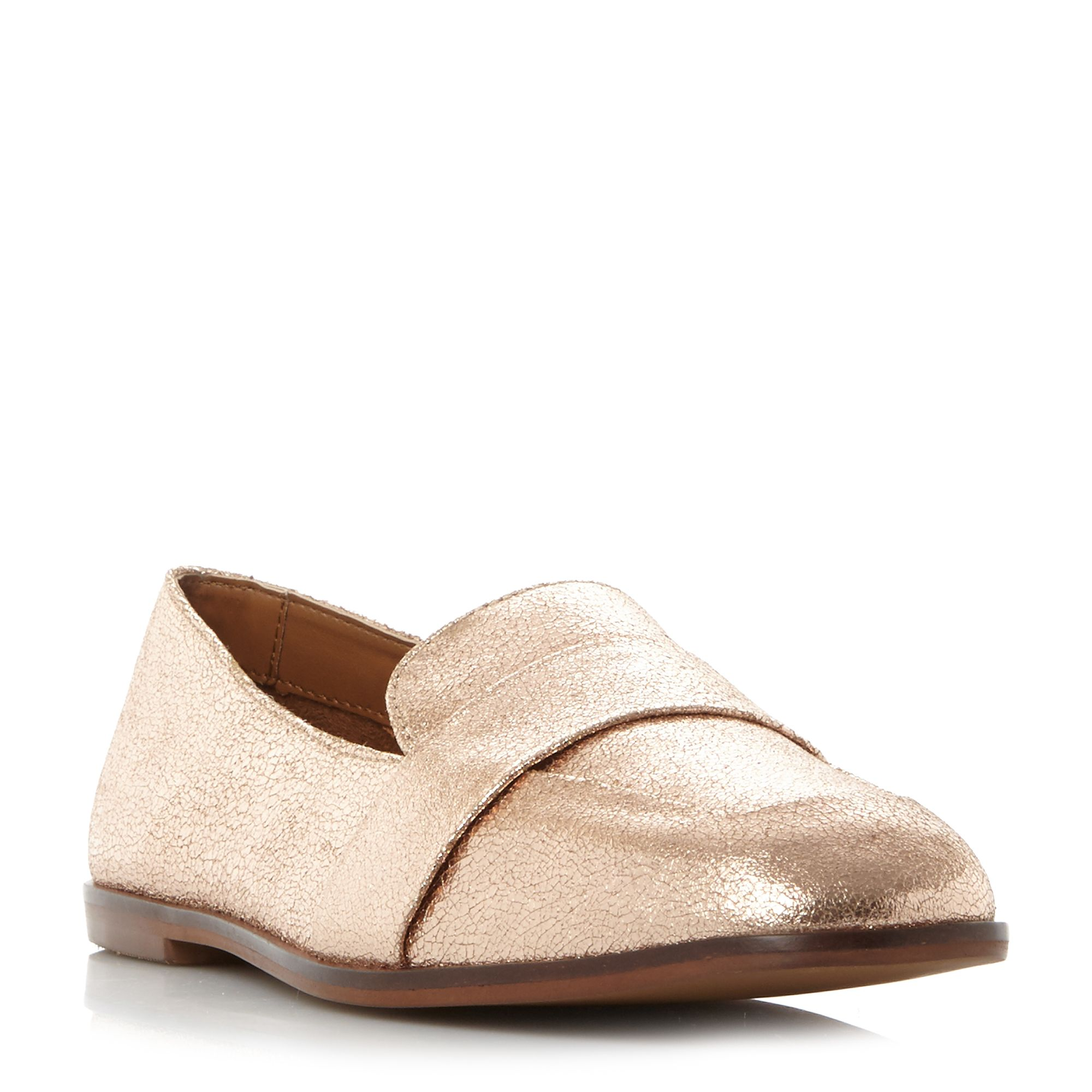 Kenneth Cole Glide Slide Metallic Loafer Shoes, Rose
