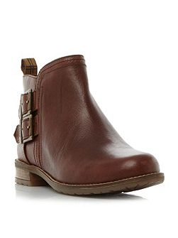 Sarah double buckle ankle boots