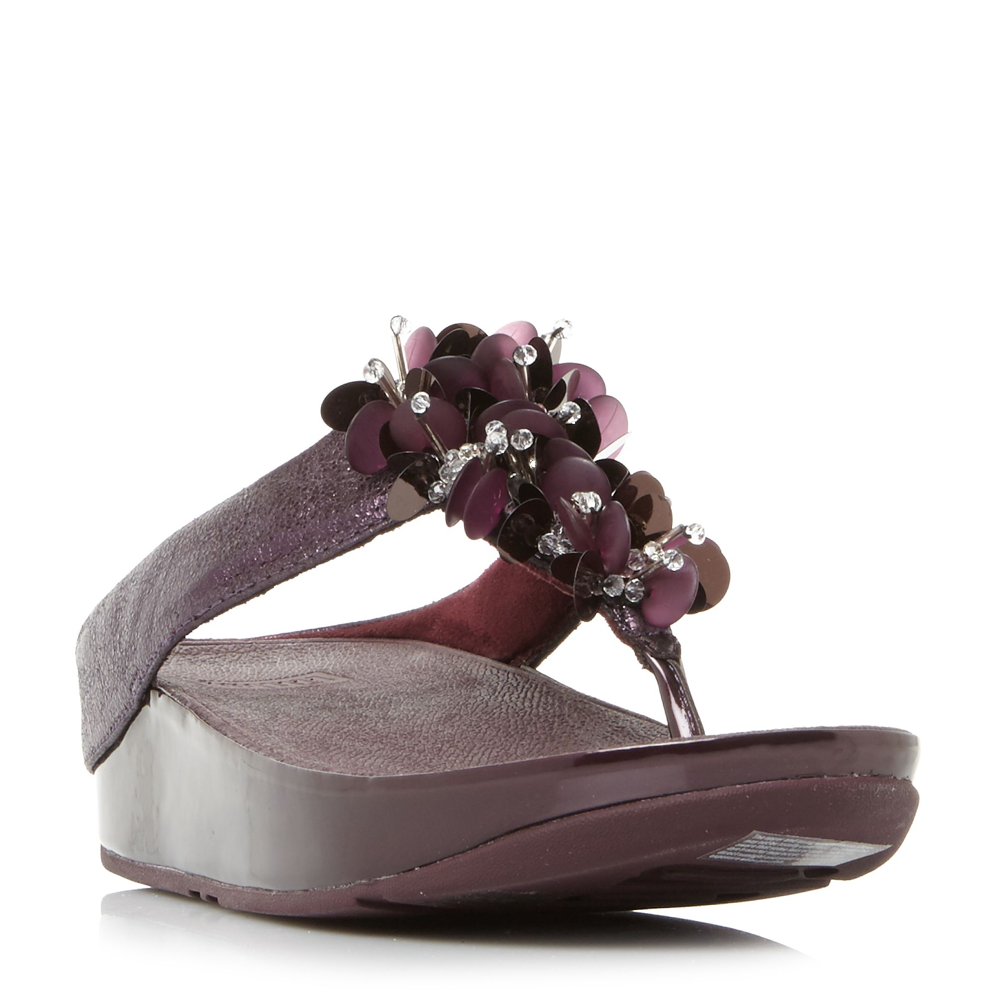 FitFlop Boogaloo Embellished Toepost Sandals, Purple