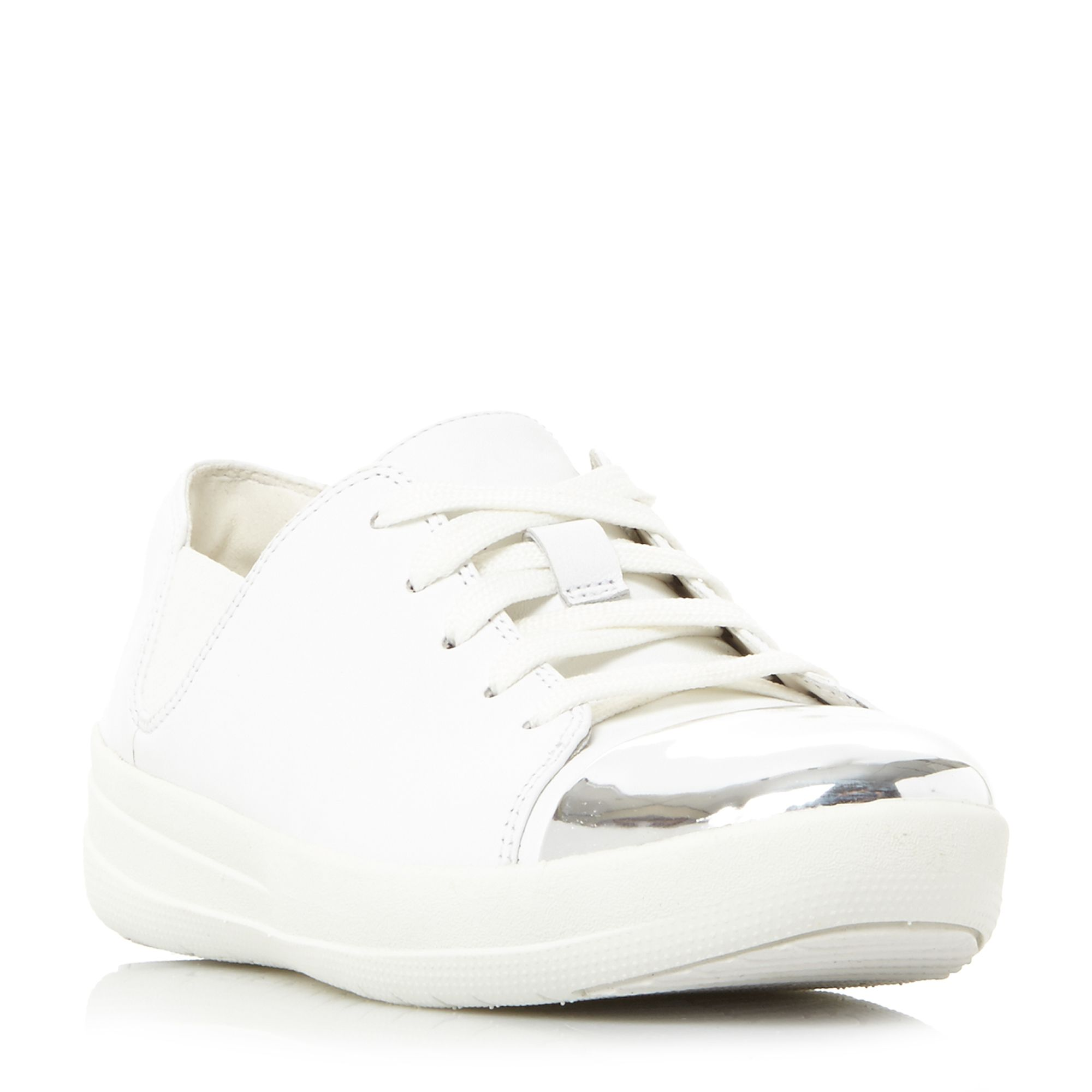 FitFlop F-Sporty Mirror Mirror Toe Trainers, White