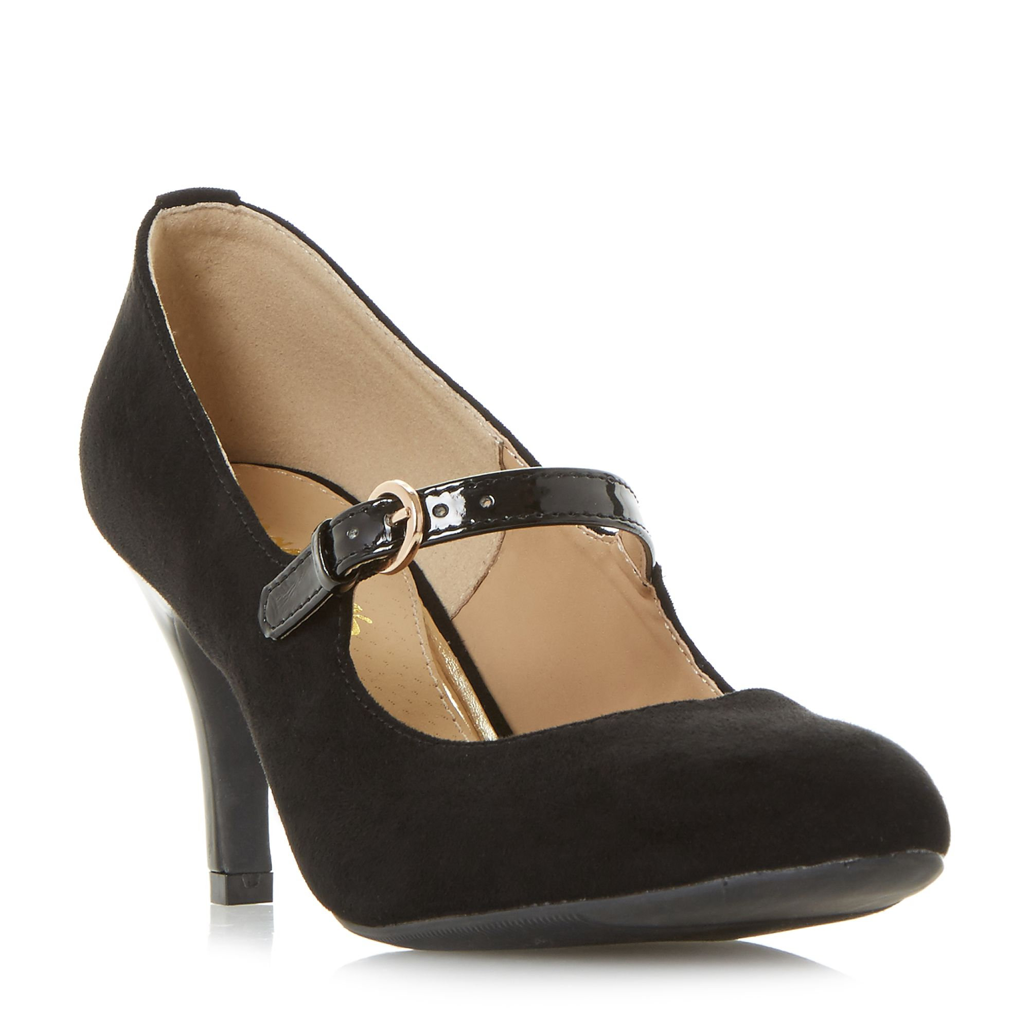 Head Over Heels Ammeline Mary Jane Court Shoes, Black