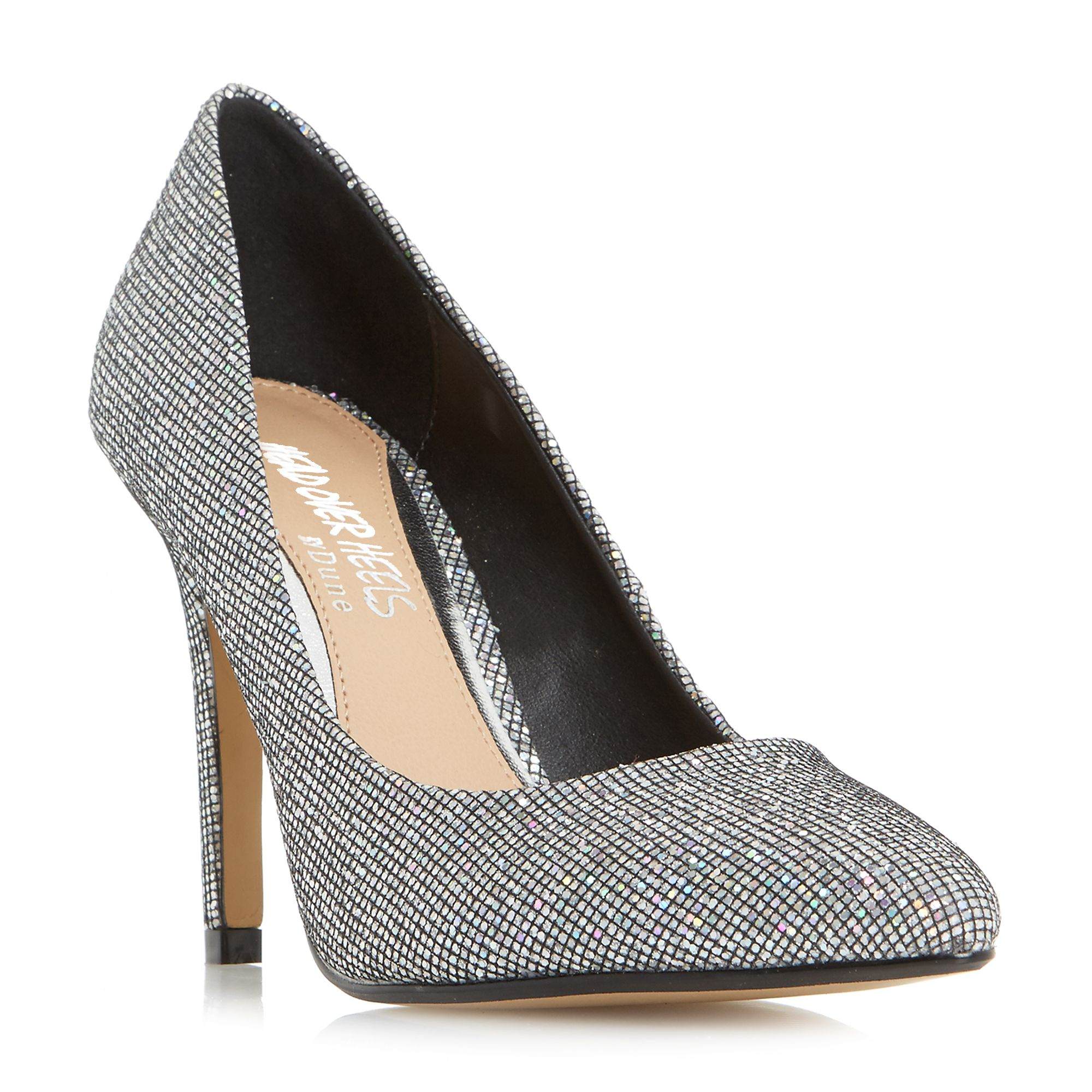 Head Over Heels Alice pointed court shoes, Silver