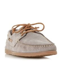 Bertie Beach suede lace up boat shoes
