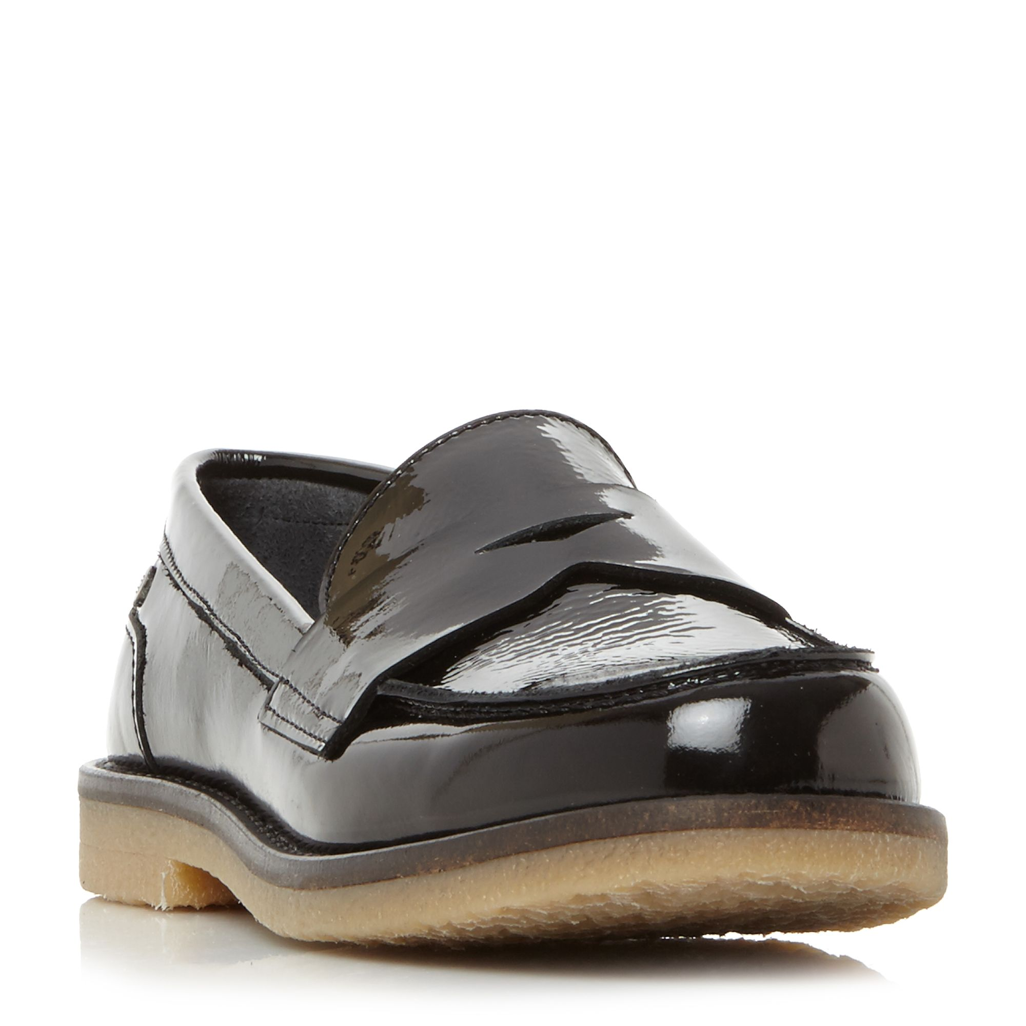 Mathilde 1a1 Patent Penny Loafers, Black Patent