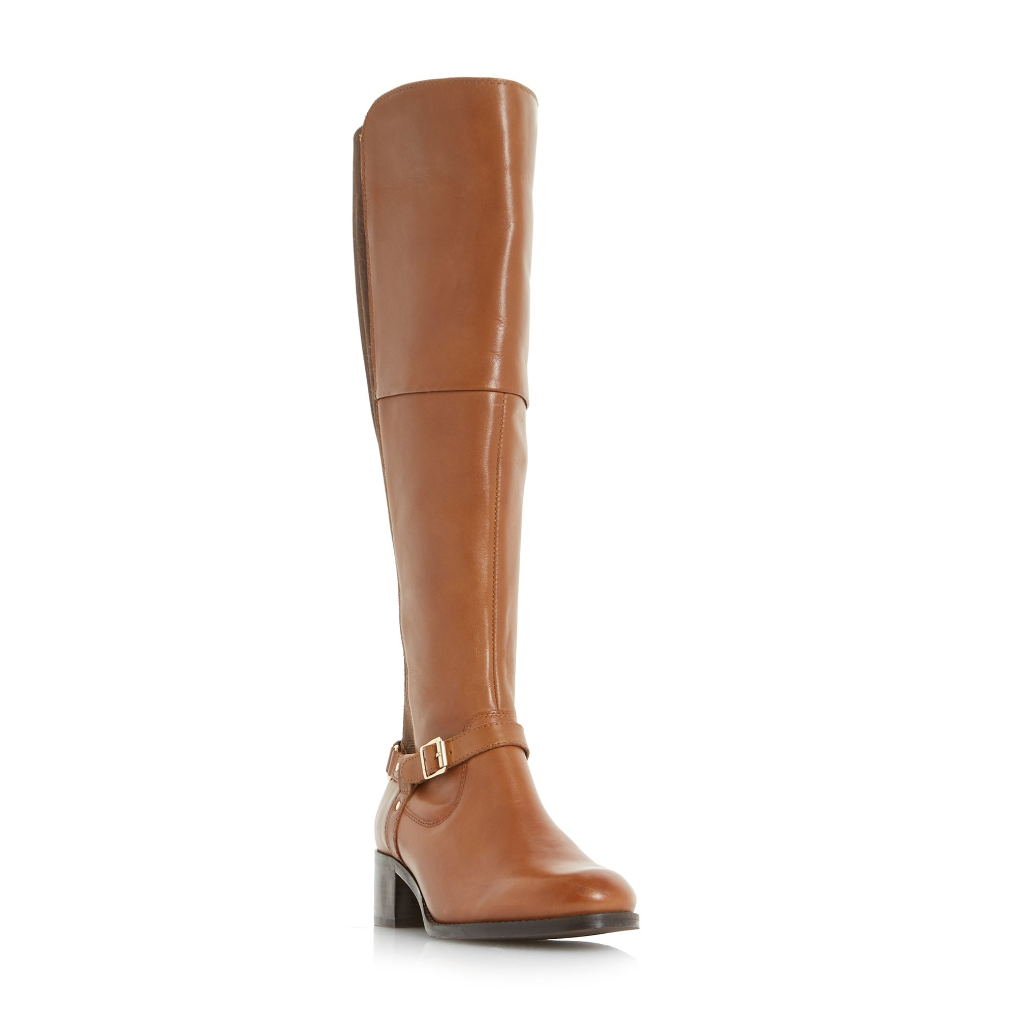 Click to view product details and reviews for Linea Tarot Harness Detail Riding Boots Tan.