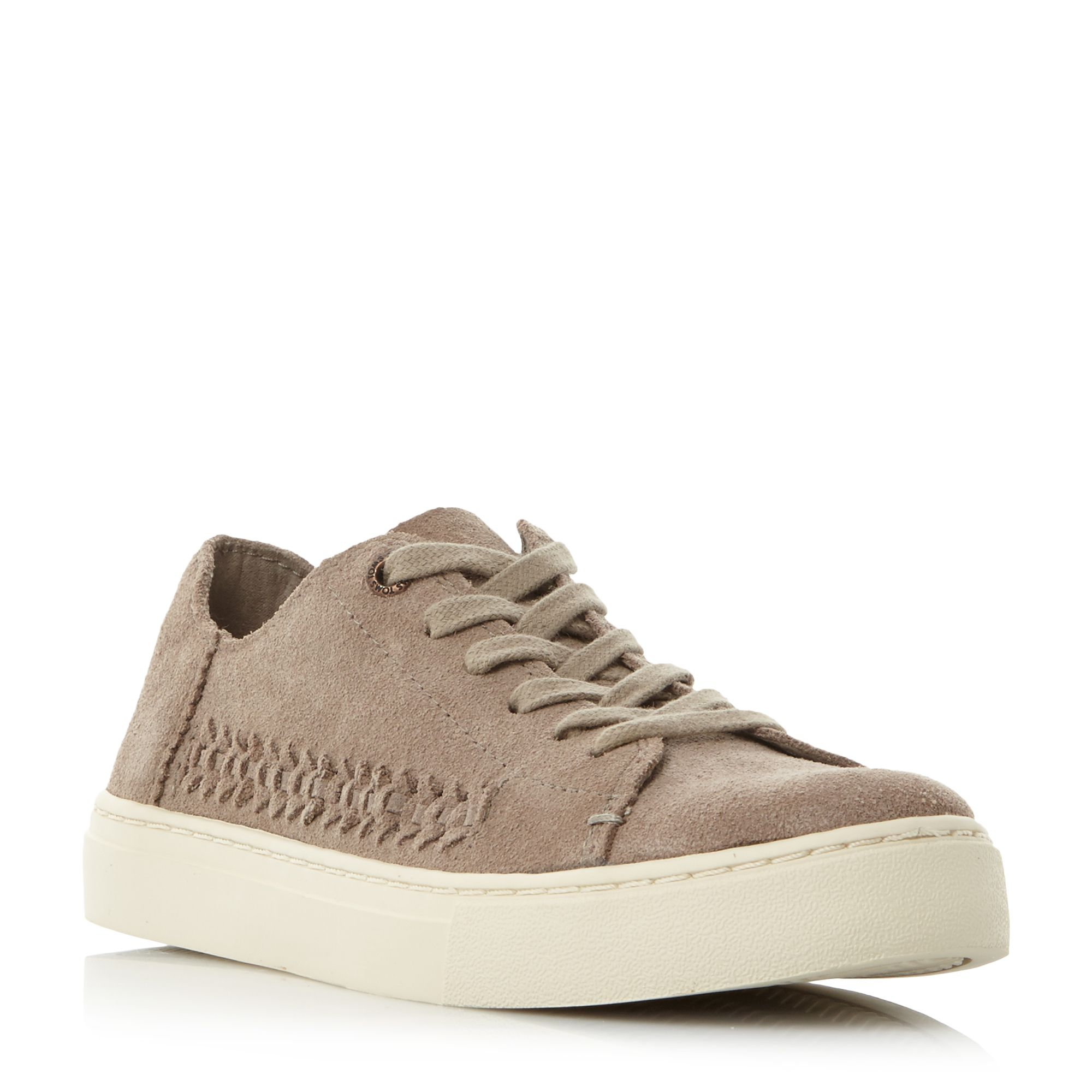 Toms Lenox Woven Panel Trainers, Brown