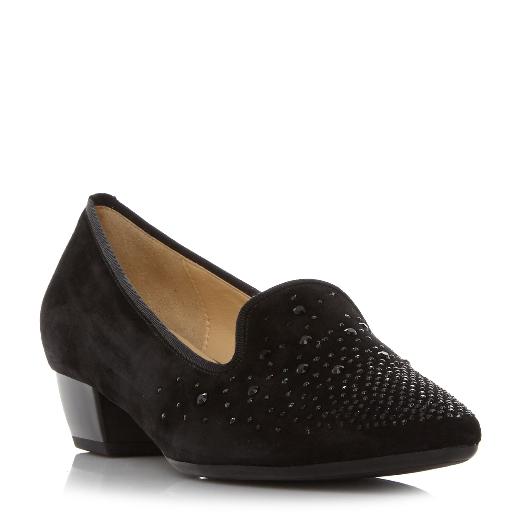 Gabor GOODY EMBELLISHED POINTED PUMP SHOES, Black