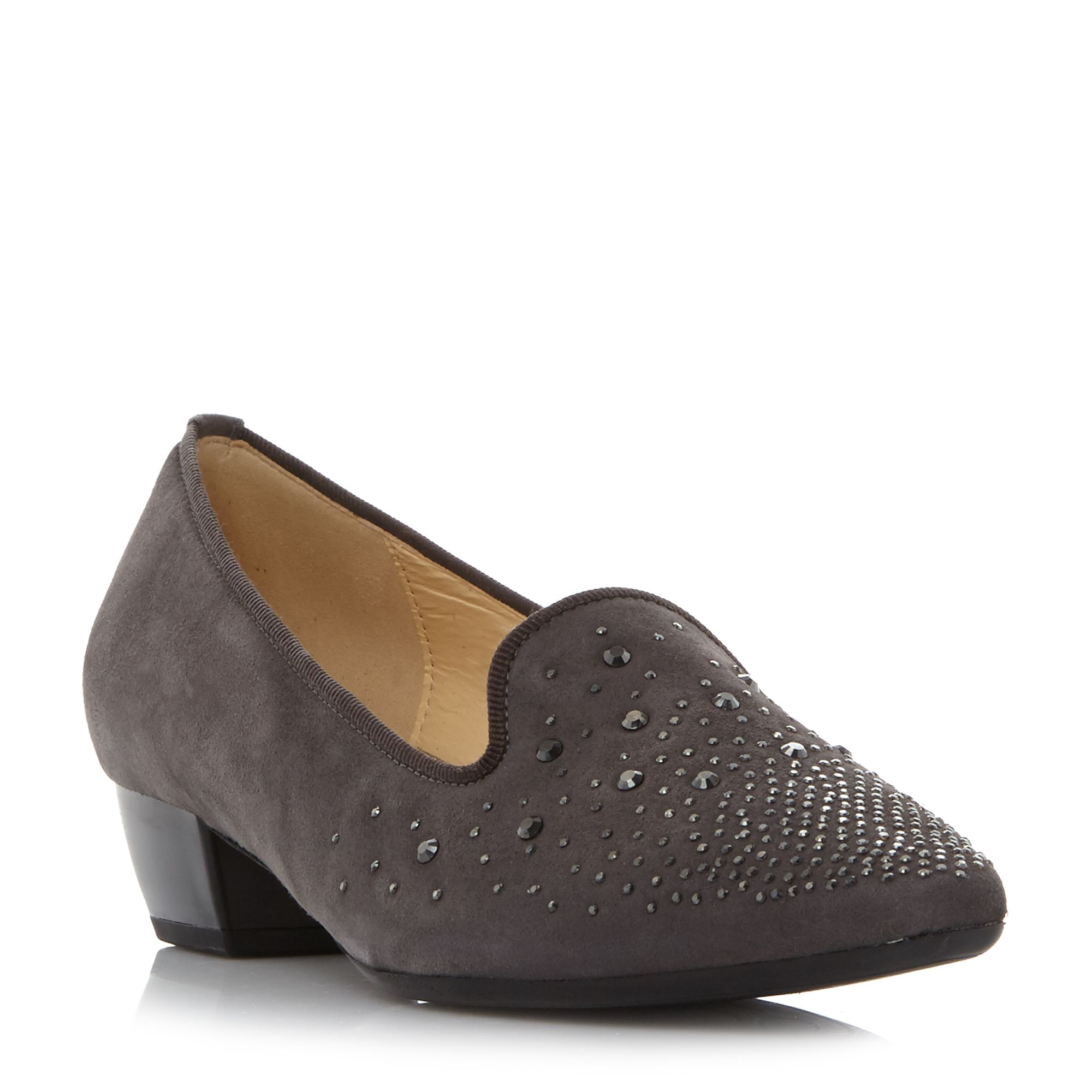 Gabor GOODY EMBELLISHED POINTED PUMP SHOES, Grey