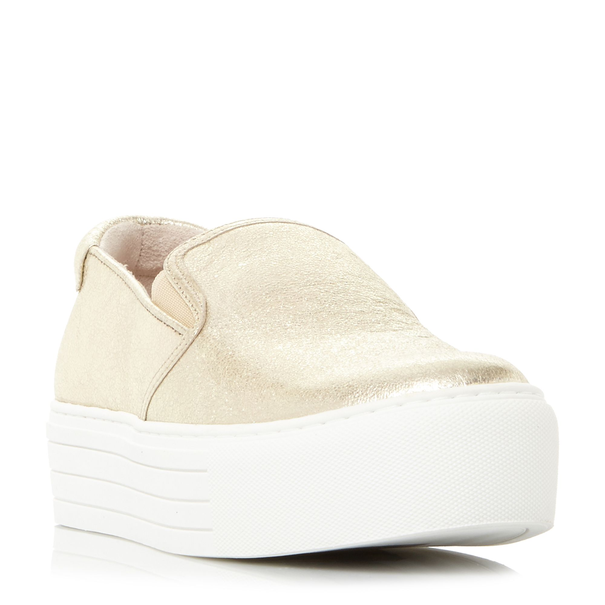 Kenneth Cole Joanie Flatform Slip On Trainers, Gold