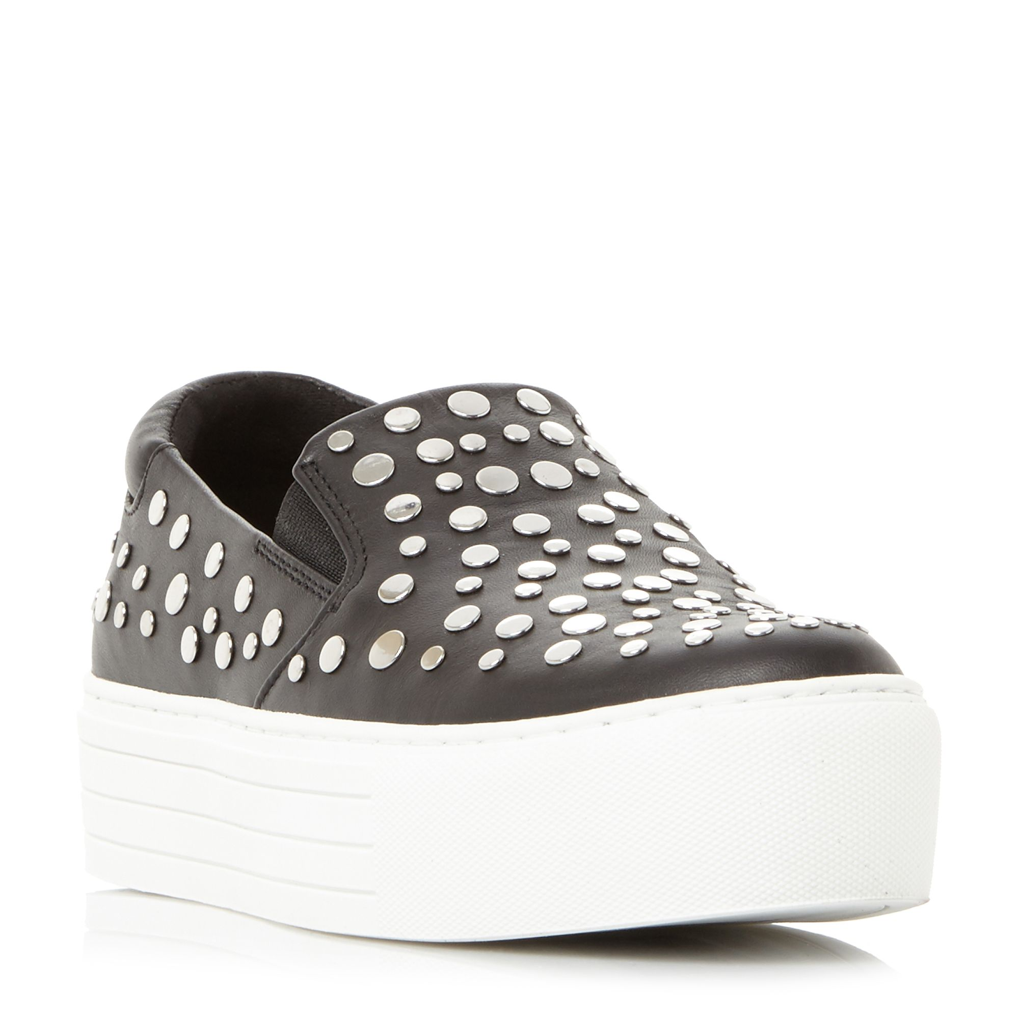 Kenneth Cole Jeyda Stud Slip On Flatform Trainers, Black
