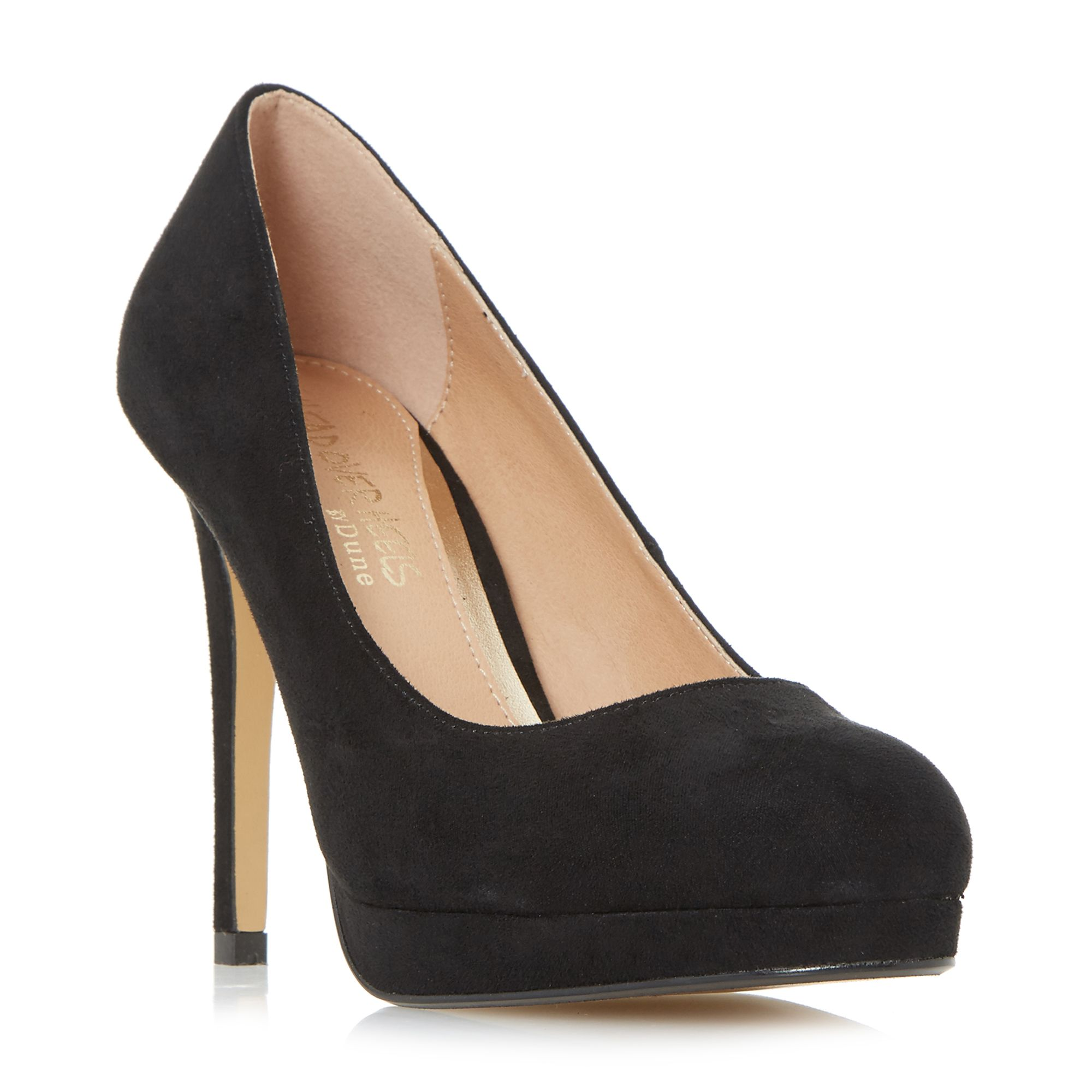 Head Over Heels Ashleigh Bow Back Court Shoes, Black
