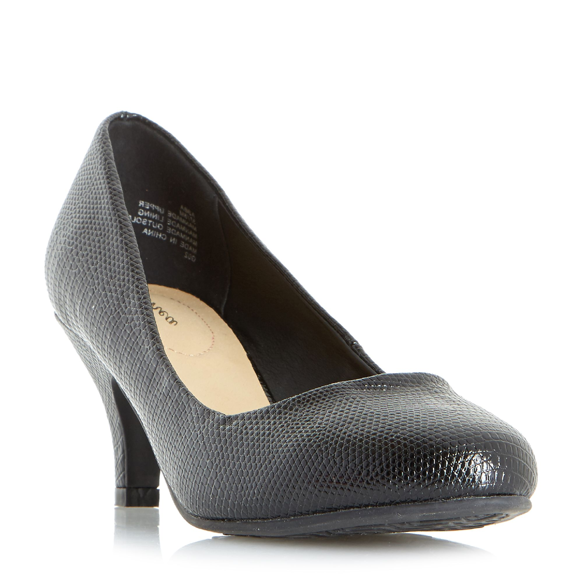 Linea Arabella Almond Toe Court Shoes, Black