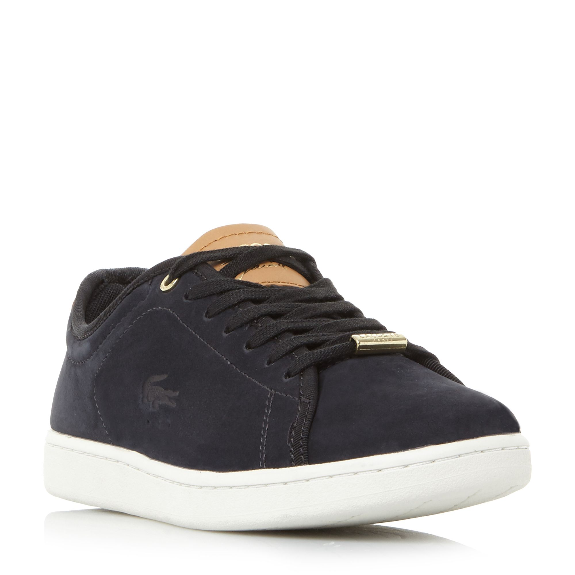 Lacoste Carnaby Evo Gold Detail Trainers, Black