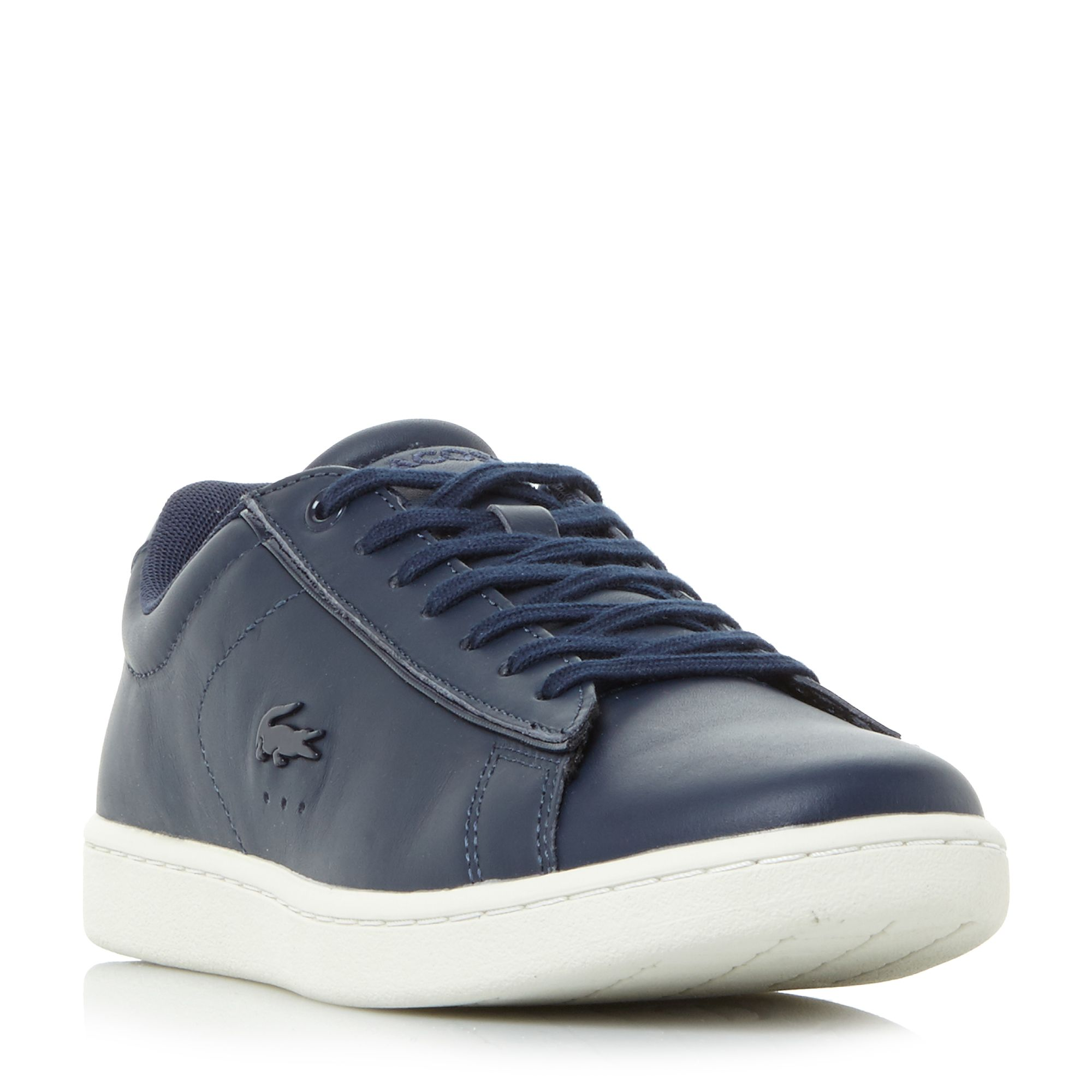 Lacoste Carnaby Evo Patent Detail Trainers, Blue