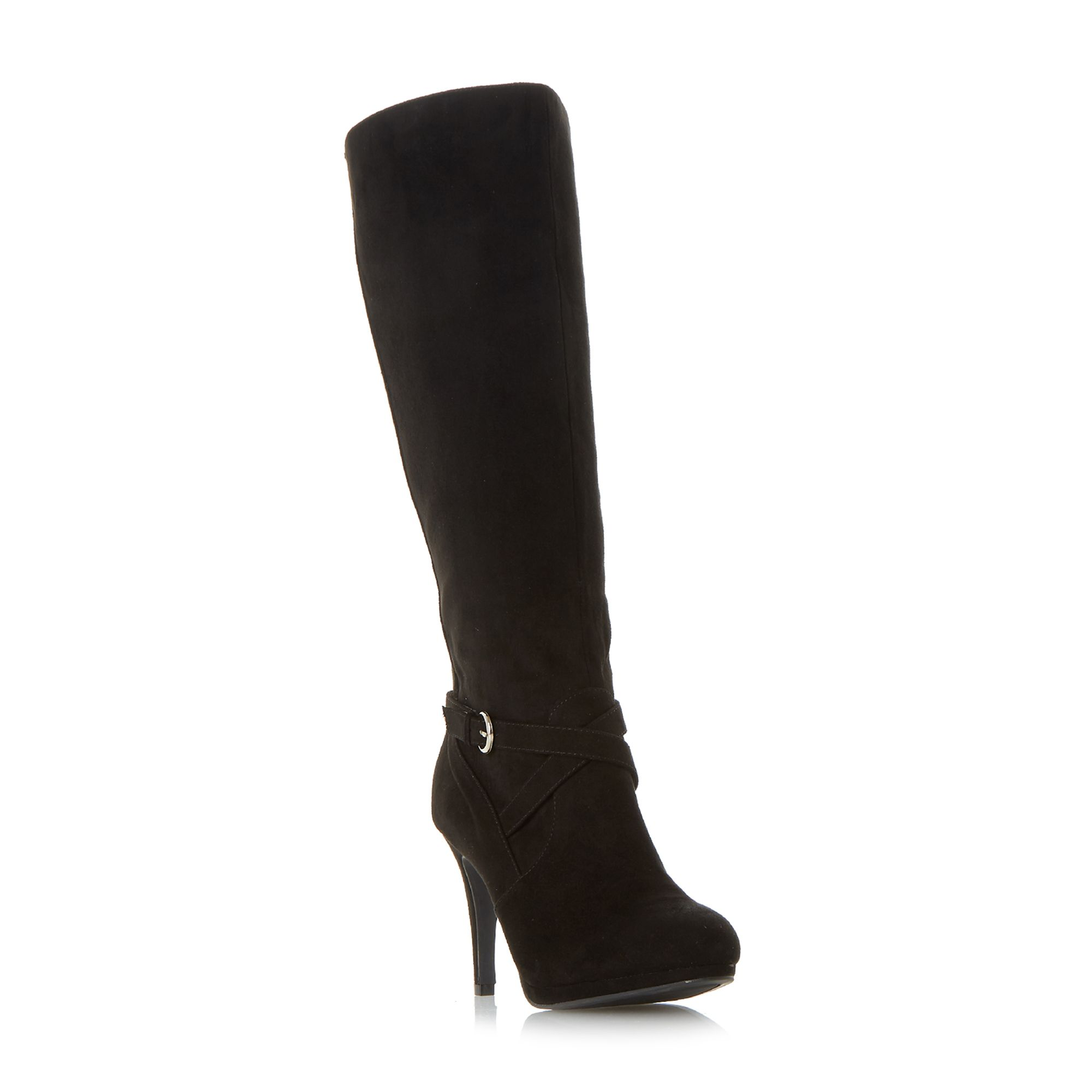 Click to view product details and reviews for Linea Symphony Strap Detail Platform Boots Black.
