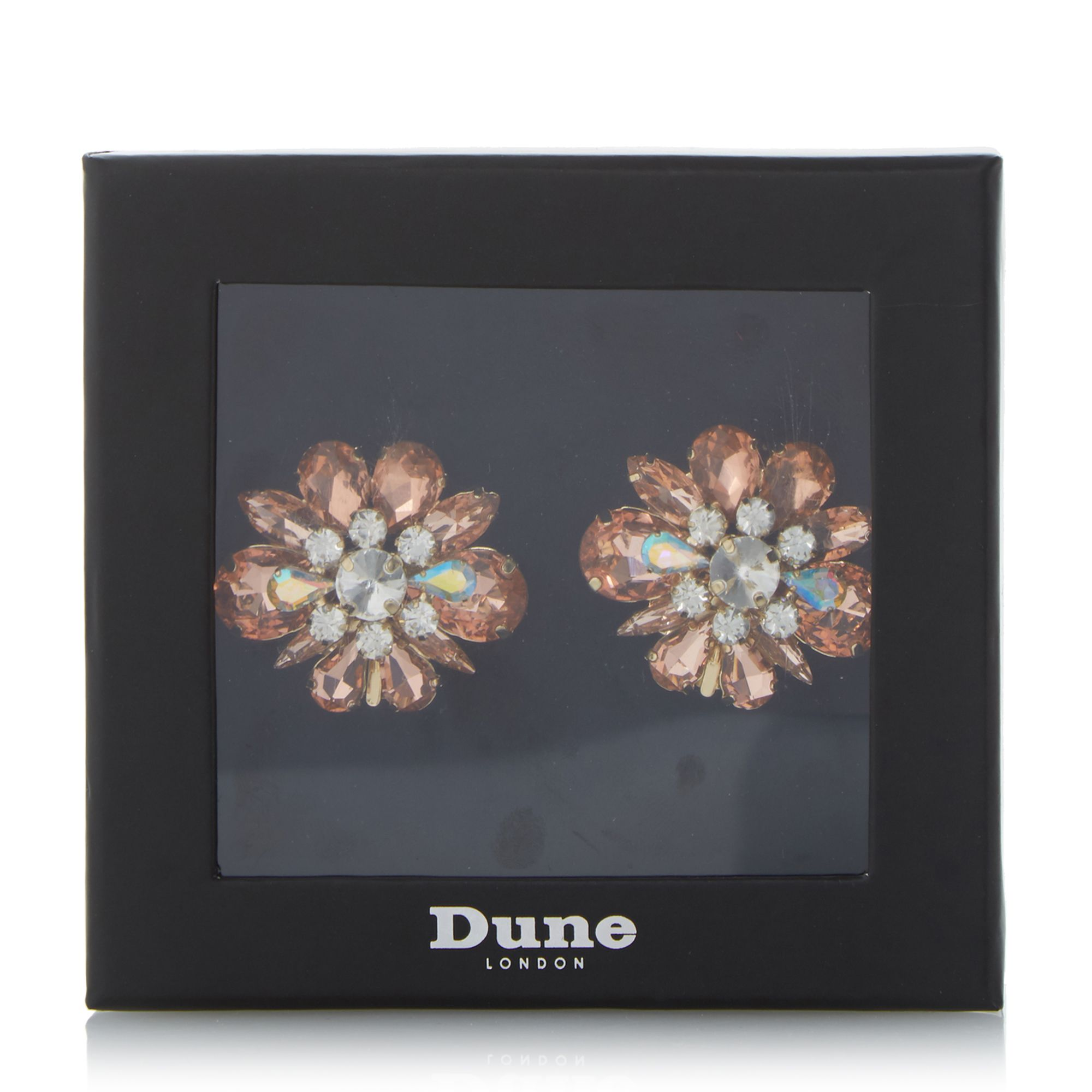 Dune Special Jewelled Shoe Clips, Pink