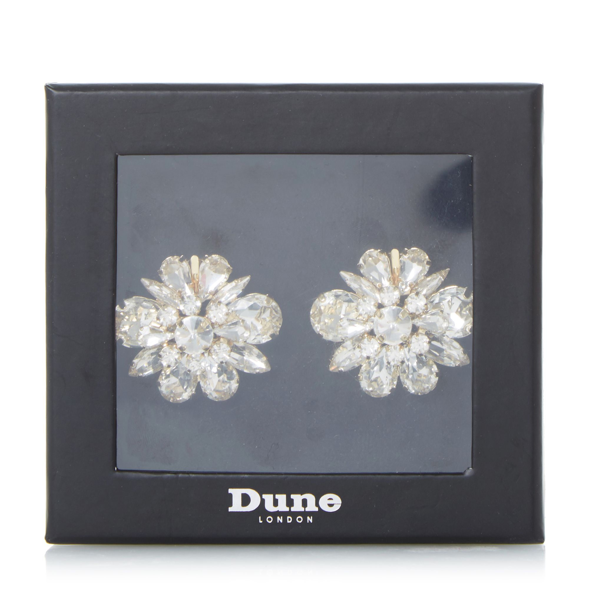 Dune Special Jewelled Shoe Clips, Clear