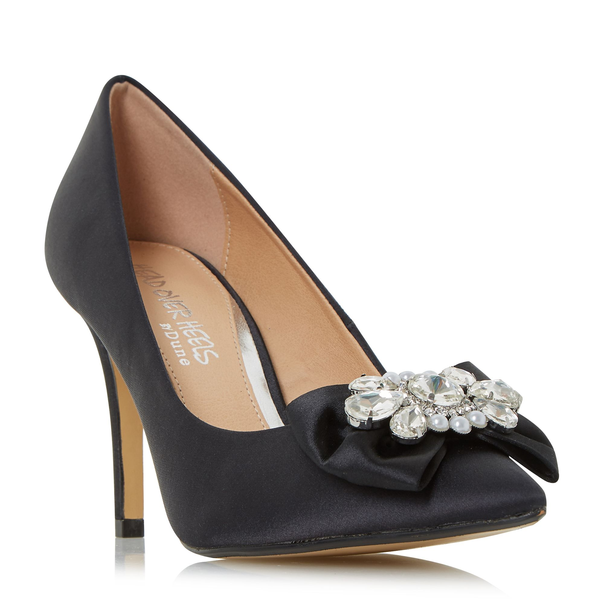 Head Over Heels Addore Pearl Trim Court Shoes, Black