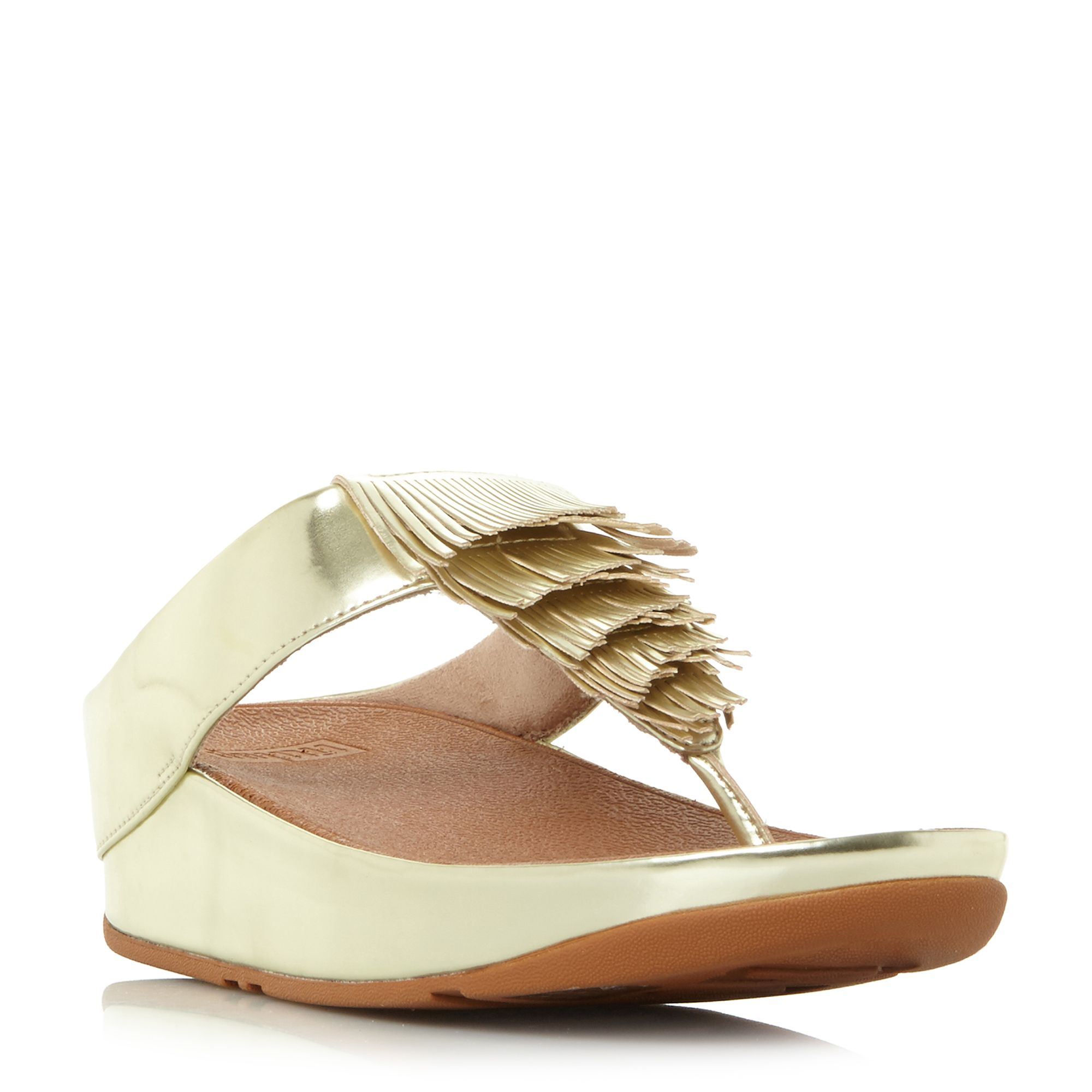 FitFlop Cha cha wedge sandals, Gold