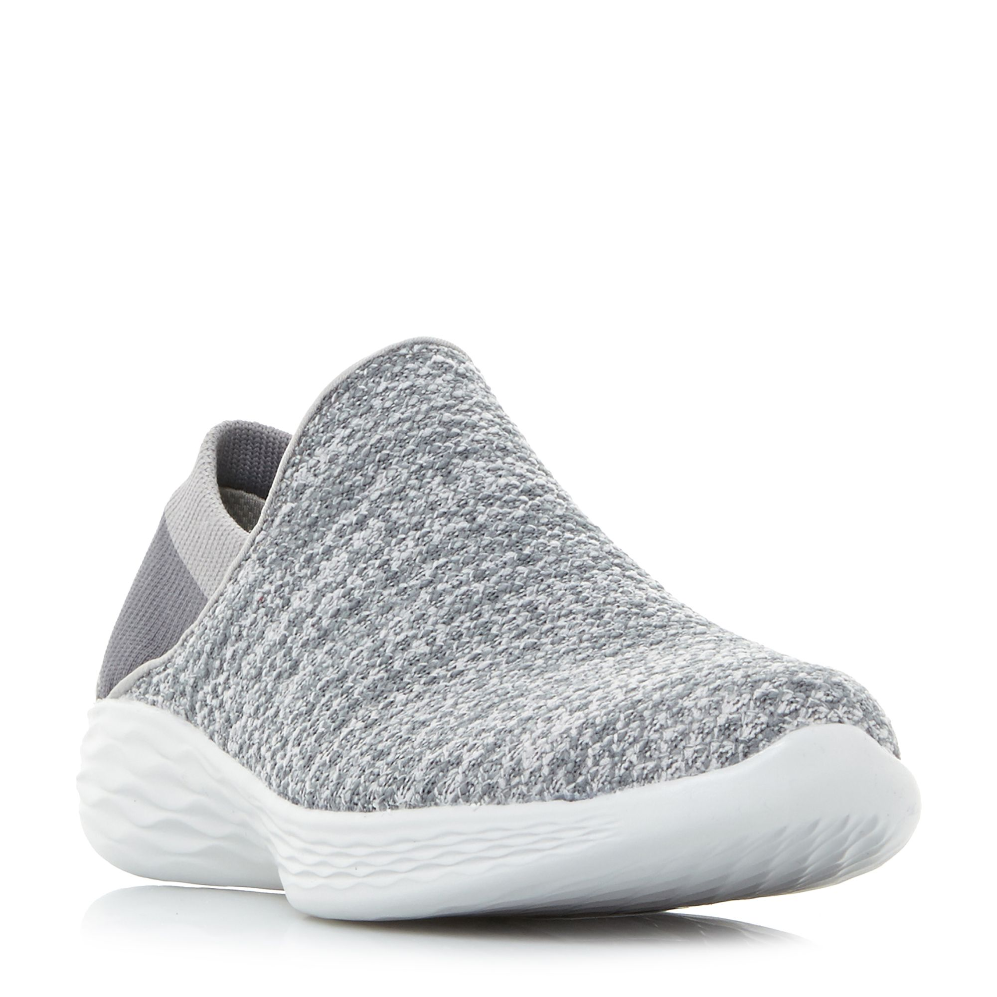 Skechers You Gore Slip On Trainers, Grey