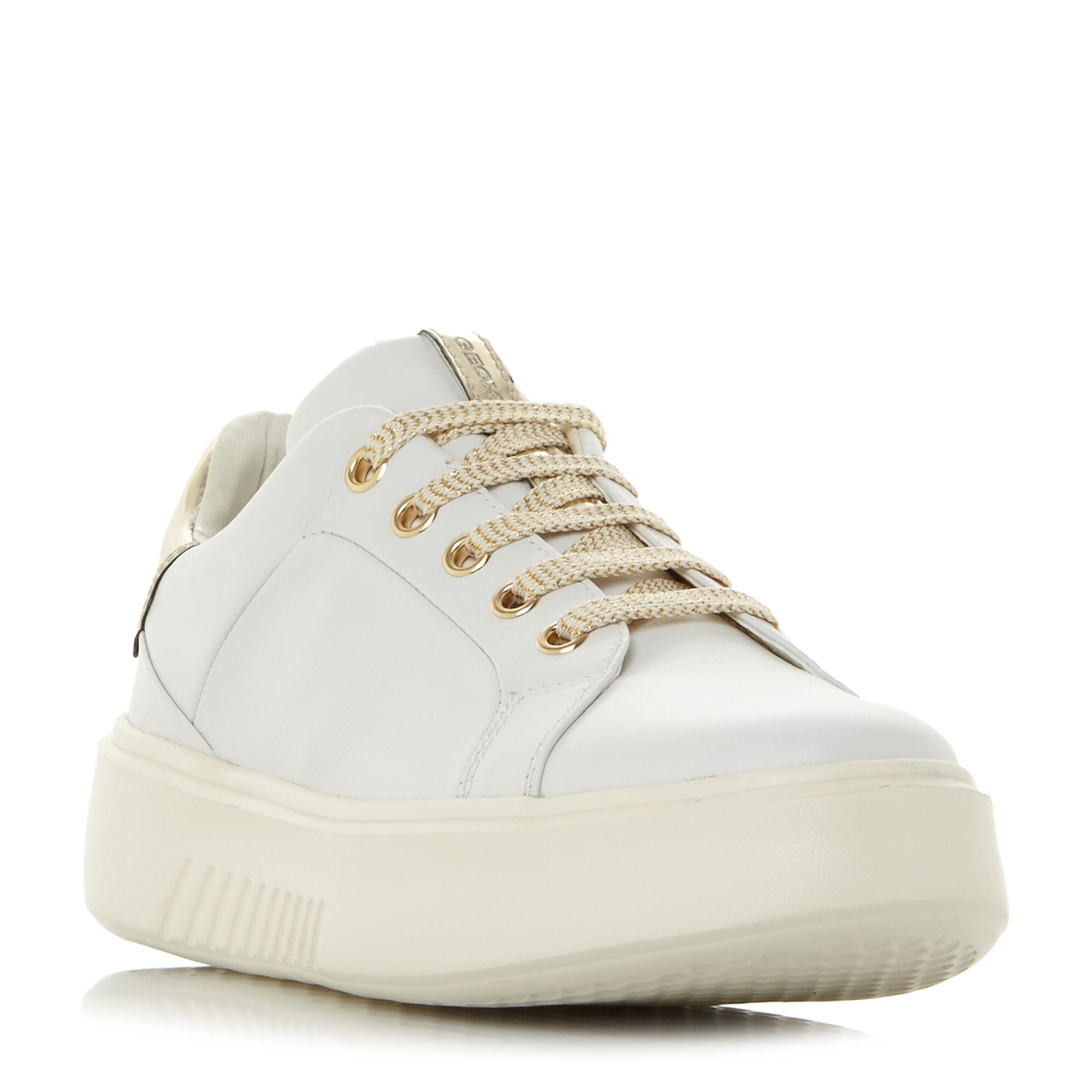 Geox D Nhenbus A Exaggerated Sole Trainers, White