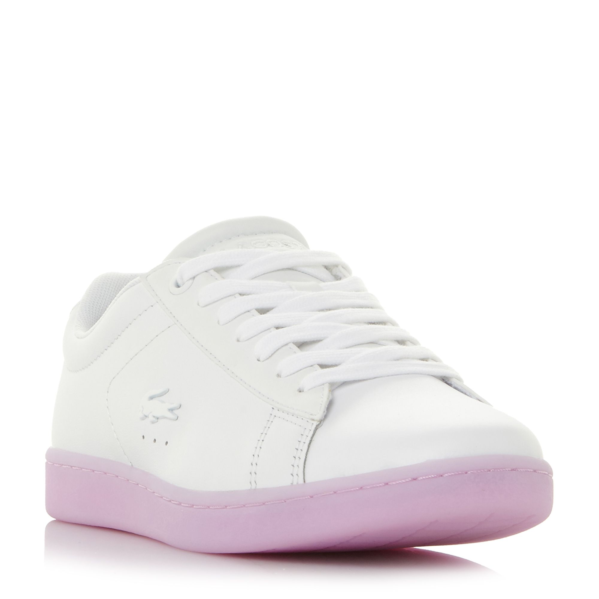 Lacoste Carnaby Evo 118 Lace Up Trainers, Pink