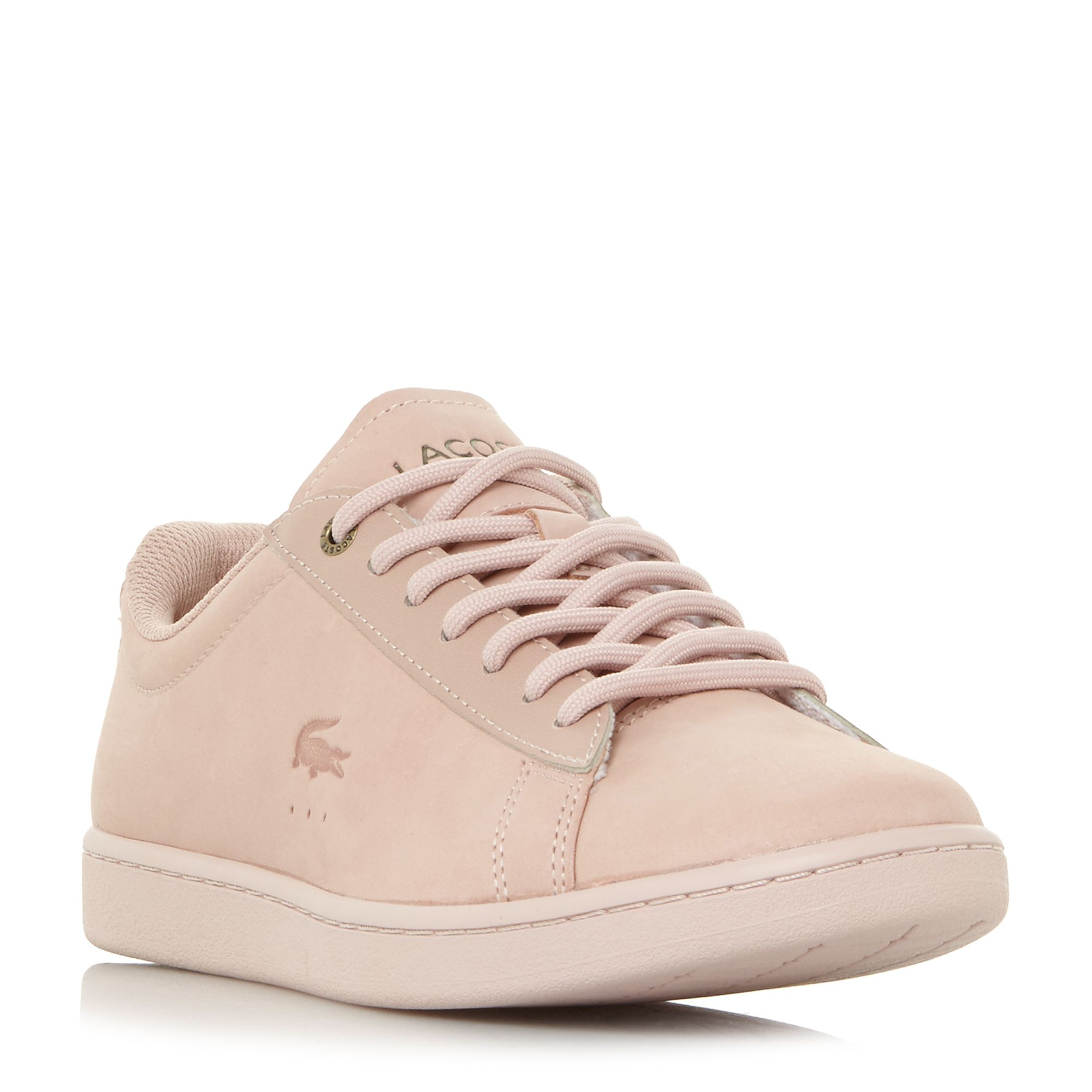 Lacoste Carnaby Evo 118 Tonal Lace Up Trainers, Pink