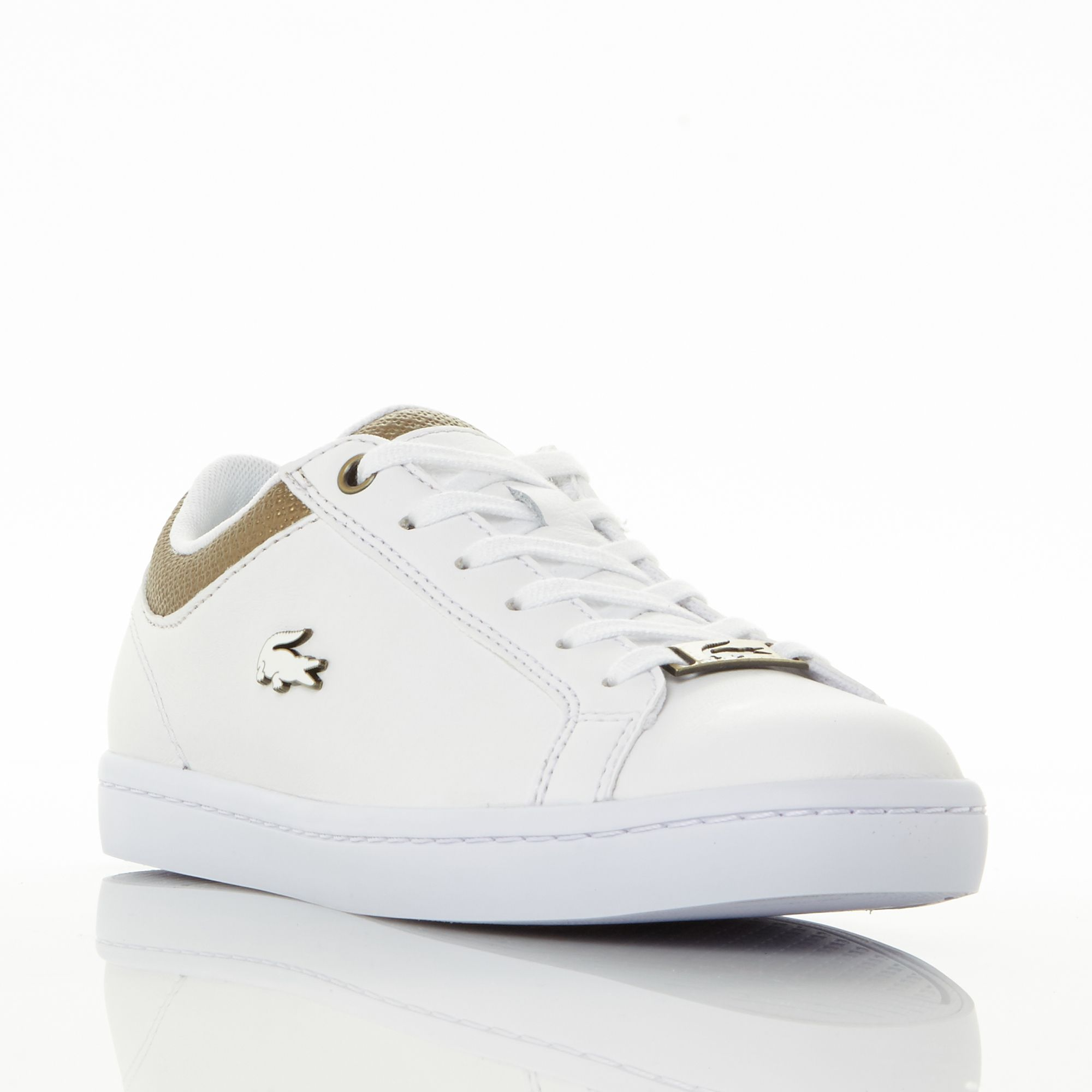Lacoste Straightset Lace Up Trainers, White