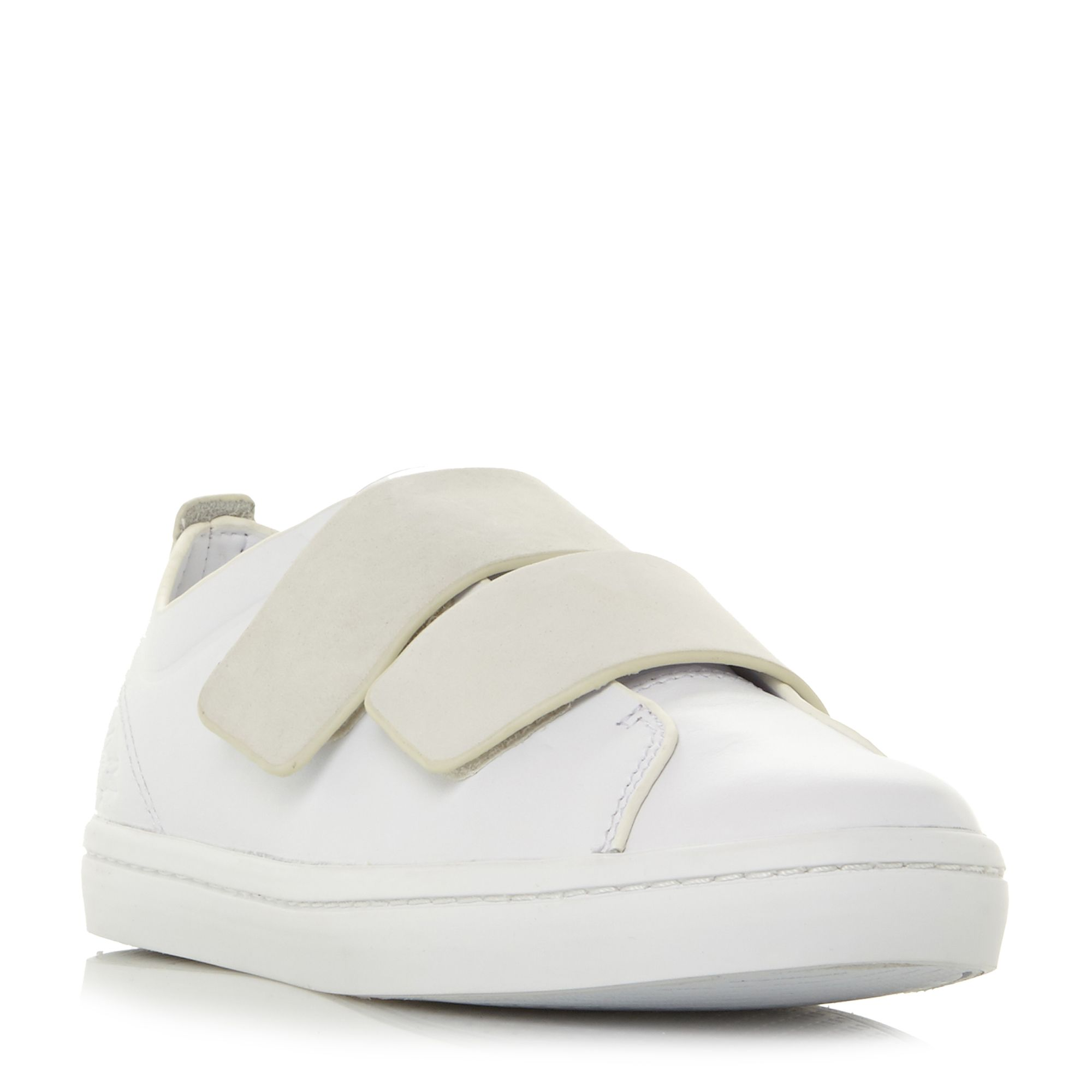 Lacoste Straightset Velcro Strap Trainers, White