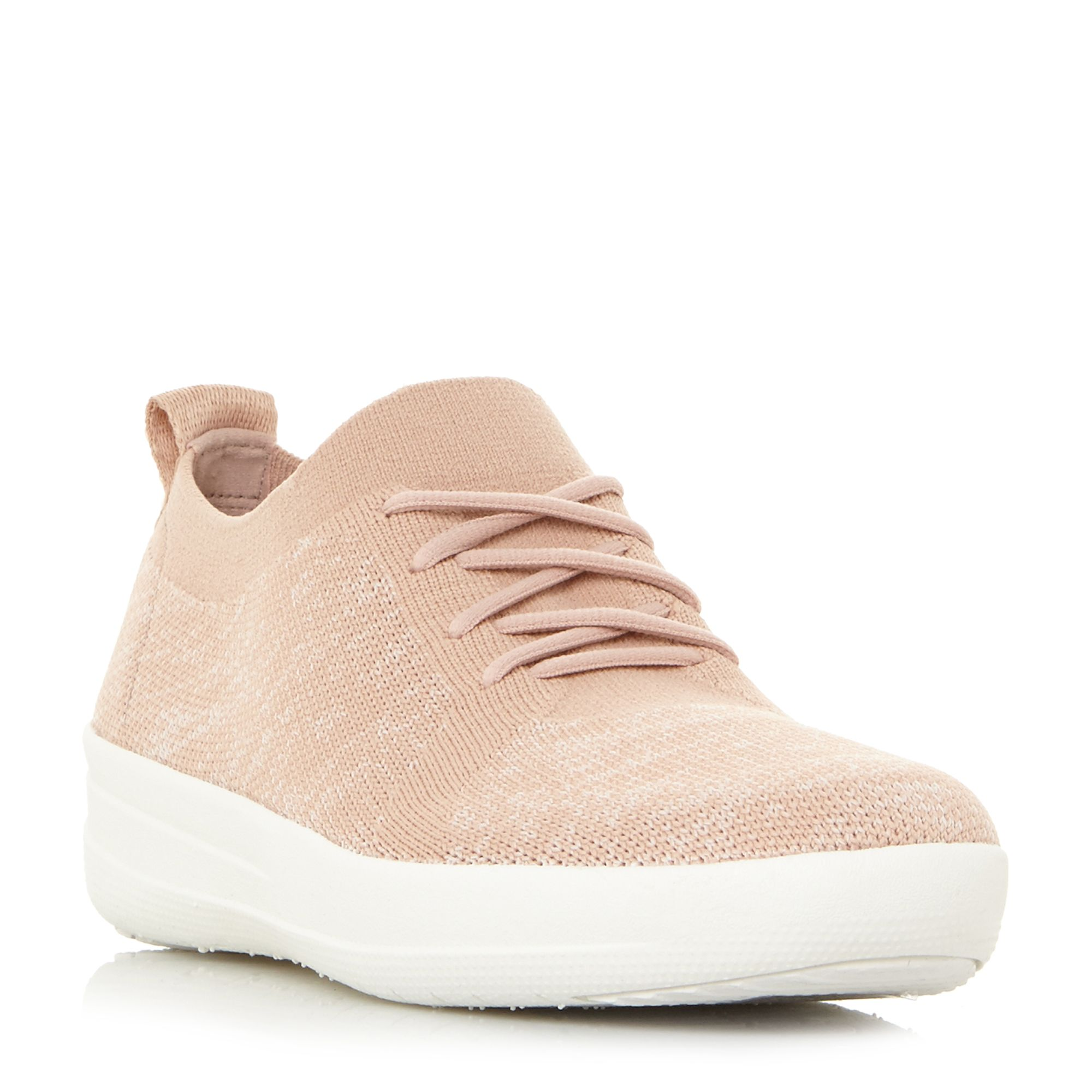 FitFlop F-Sporty Lace Up Trainers, Pink