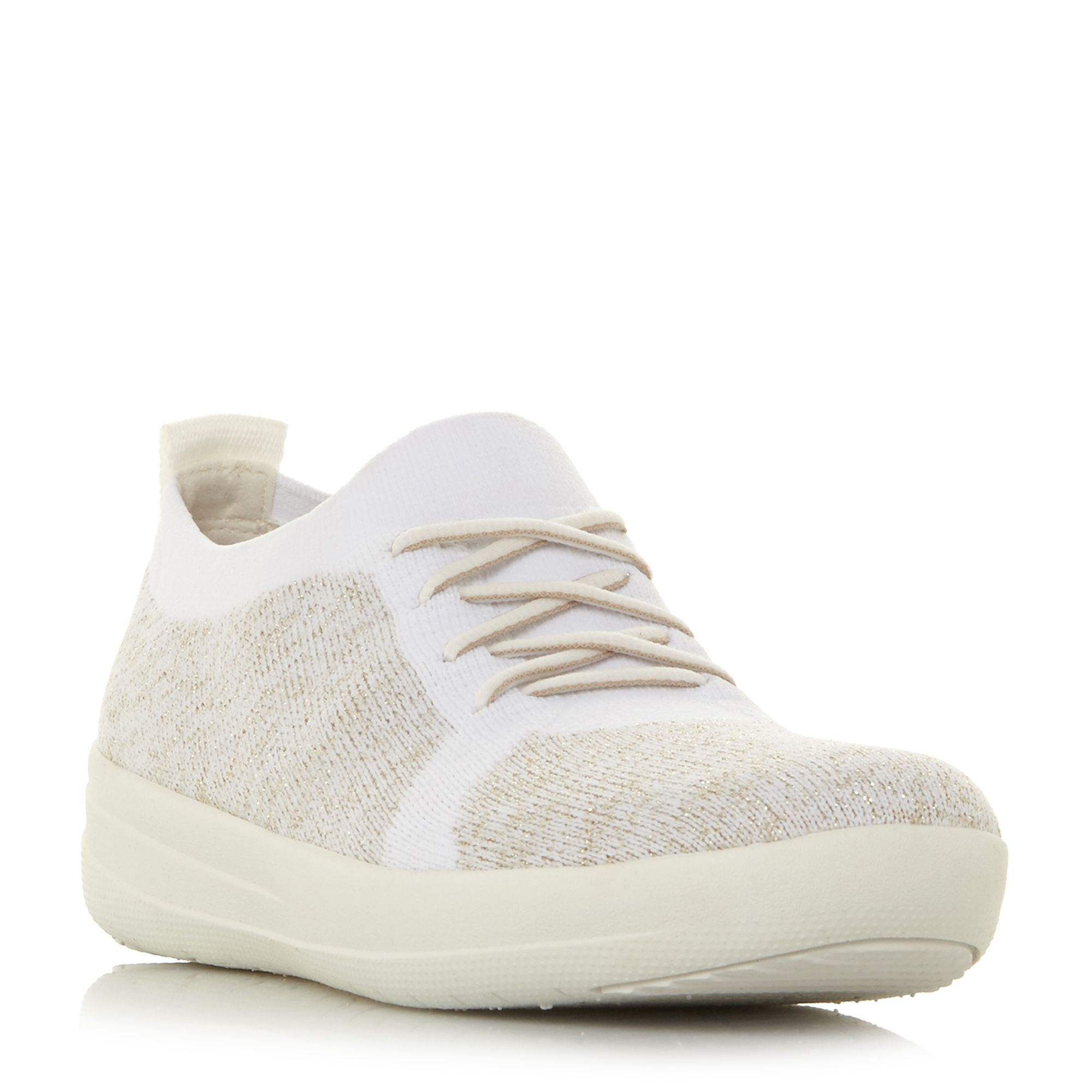 FitFlop F-Sporty Lace Up Trainers, White