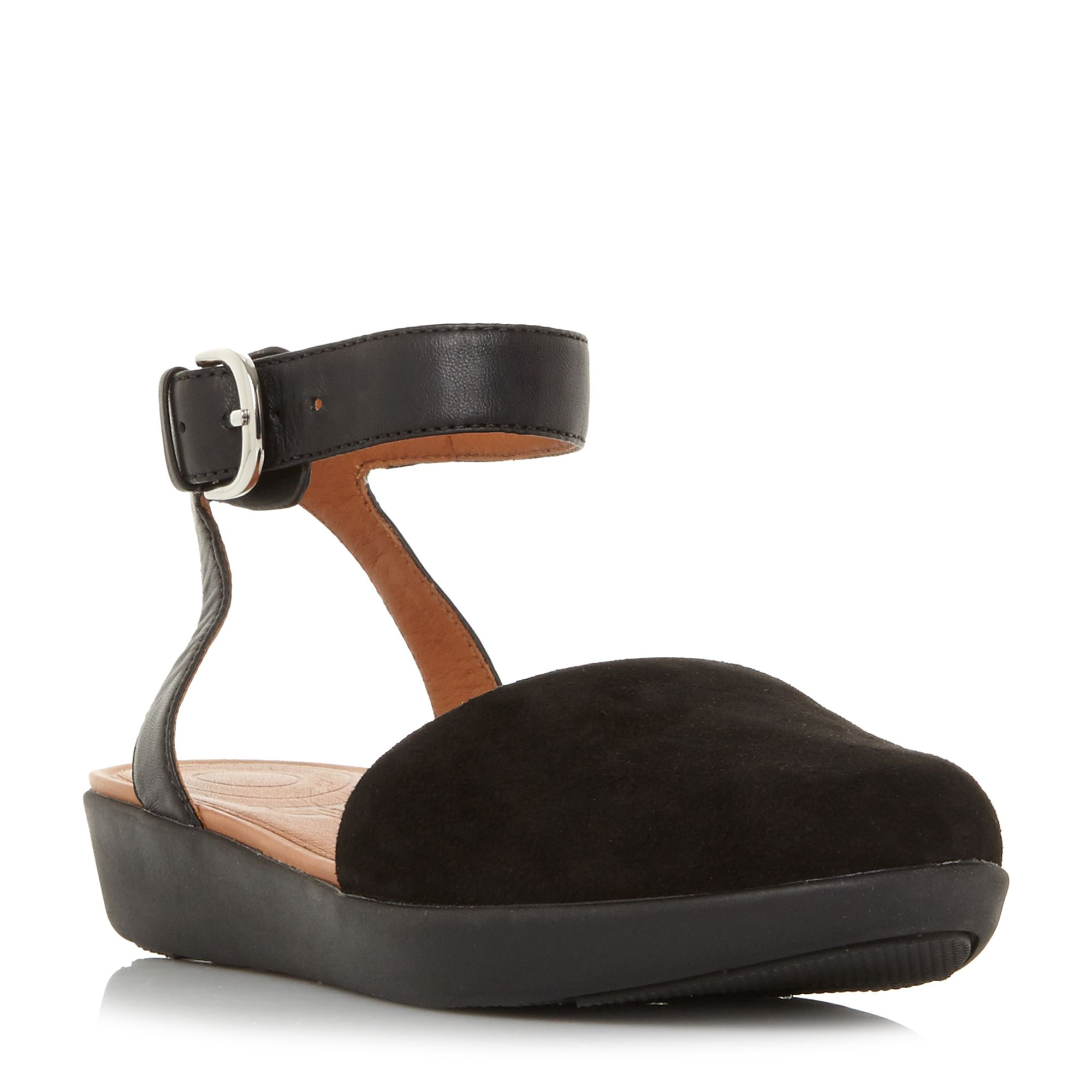FitFlop Cova Closed Toe Sandal Shoes, Black
